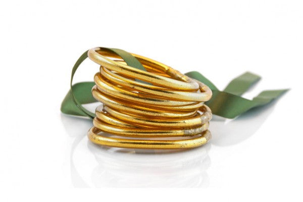 All Weather Gold Bangles Christian Prayer