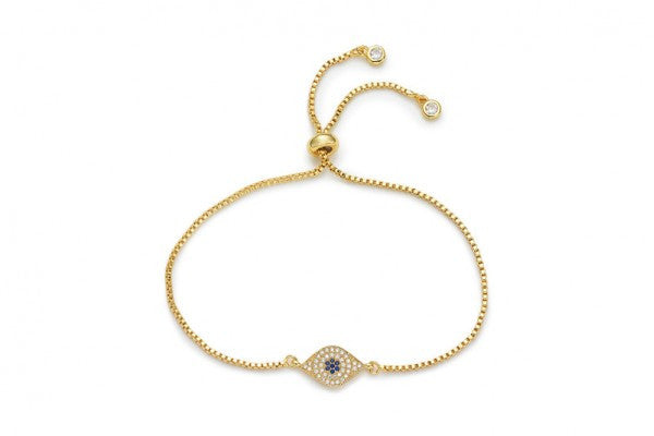 Evil Eye Metal Wristlette by Budha Girl