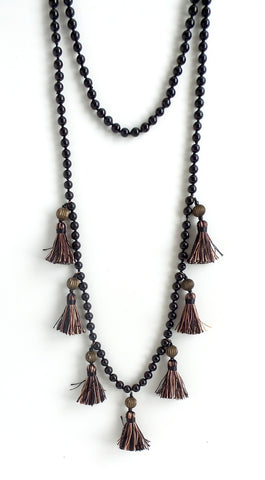Katerina Tassels Long Necklace