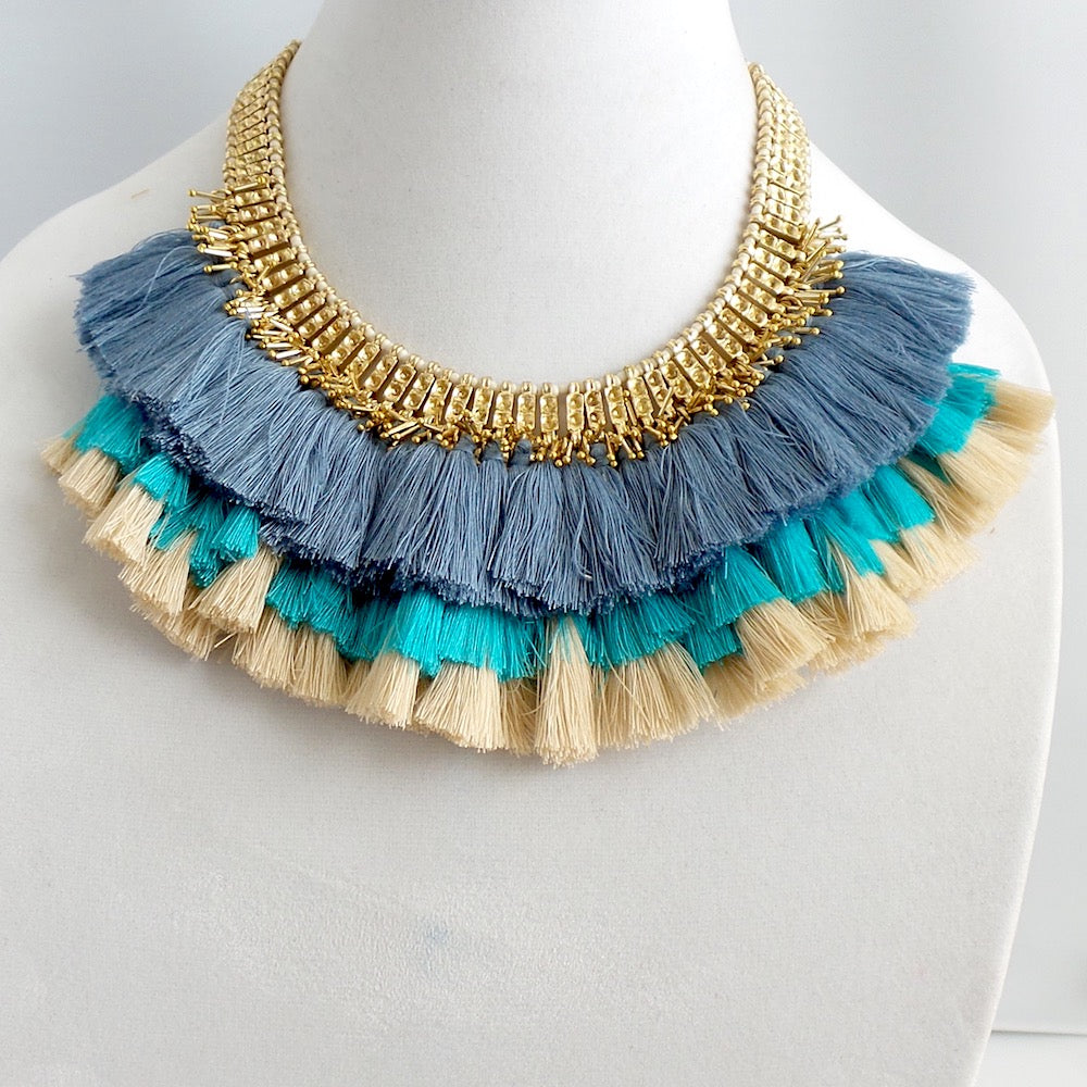 Triple Tassel Bib *click for more colors