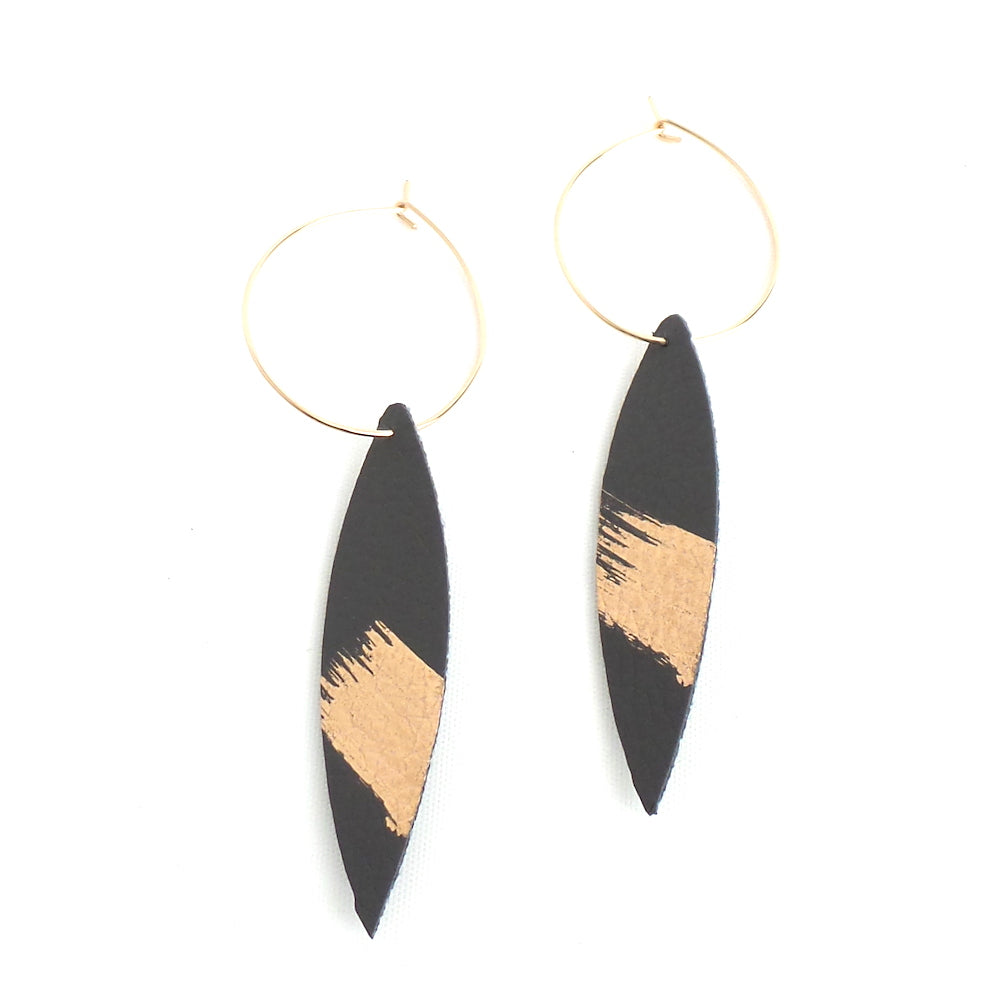 Charcoal Splash Hoop Earrings - Estilo Concept Store