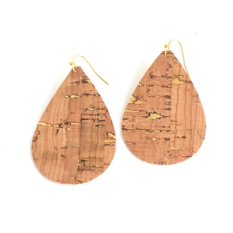 Cork and Gold Speckle Earrings - Estilo Concept Store
