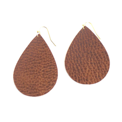 Light Brown Leather Earrings - Estilo Concept Store