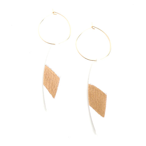 White Splash Hoop Earrings - Estilo Concept Store