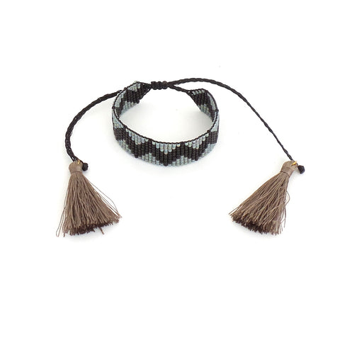 Chevron Gray and Black Bracelet - Estilo Concept Store