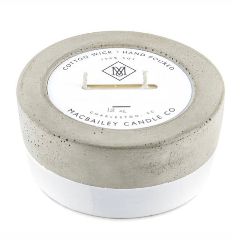 Citronella Concrete Candle - White Dipped