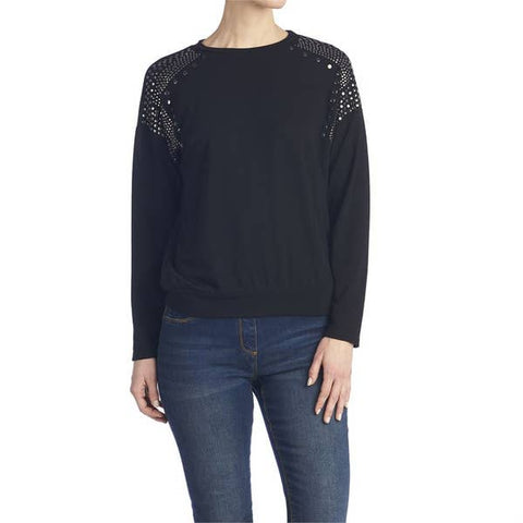 Black Brady Studded Top