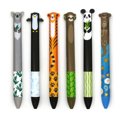 Cute Creatures 2 Color Click Pen