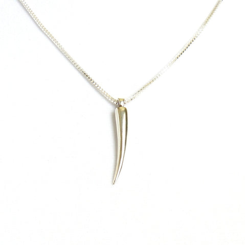 Elephant Tusk Sterling Silver Necklace