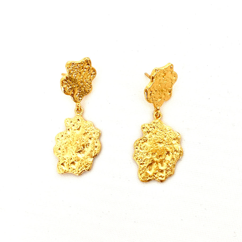 Double Flake Earrings