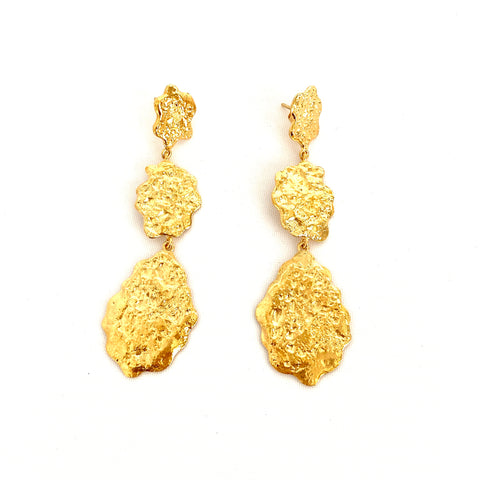 Triple Flake Earrings
