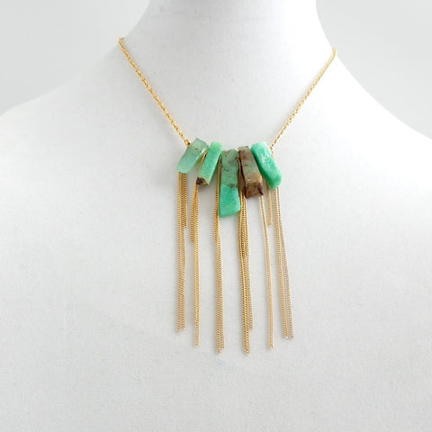 Green Fluorite Short Necklace - Estilo Concept Store