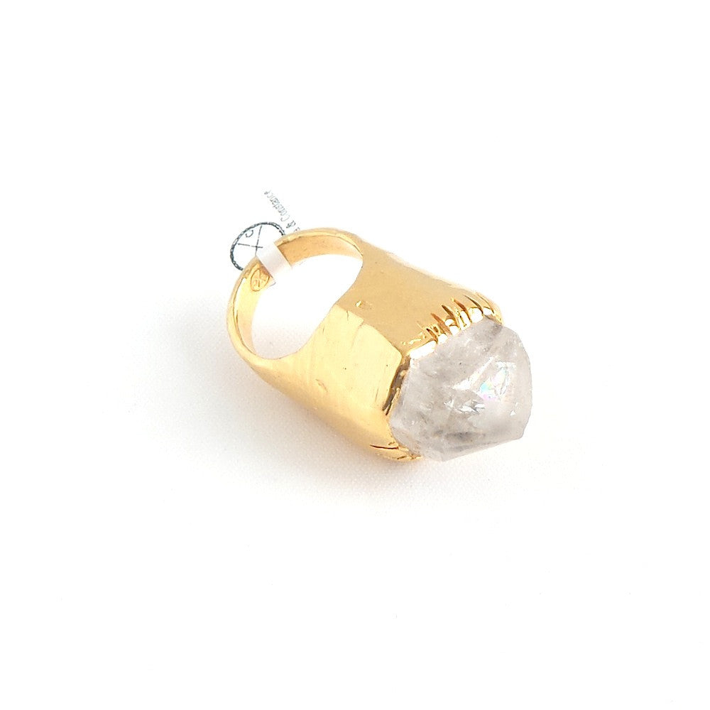 Rough Quartz Ring