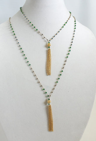 Semiprecious Stones Necklace Set