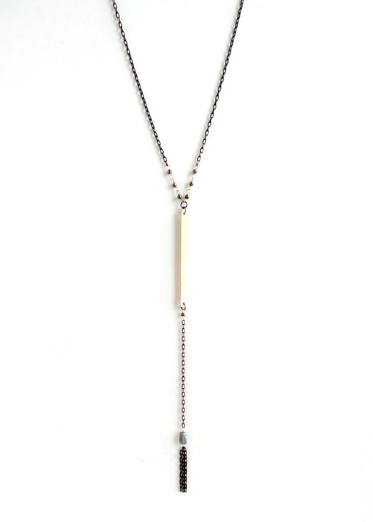 Single Bar with Stone Y-Necklace