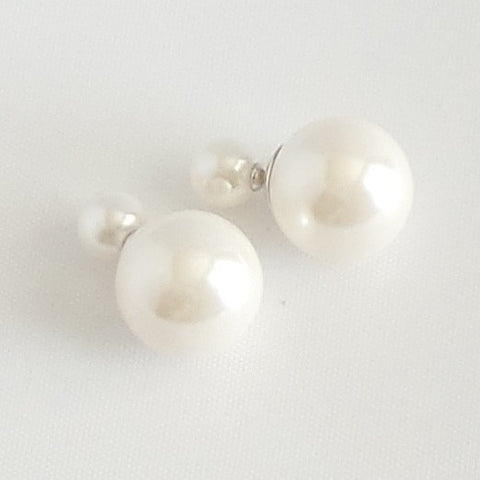360 Pearl Double Stud Earrings