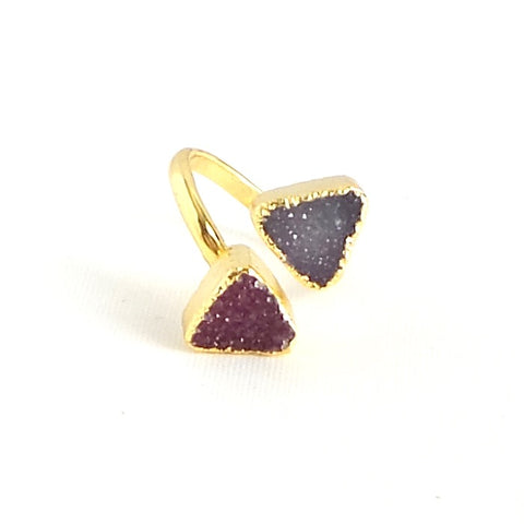 Double Druzy Agate Ring *click for more colors