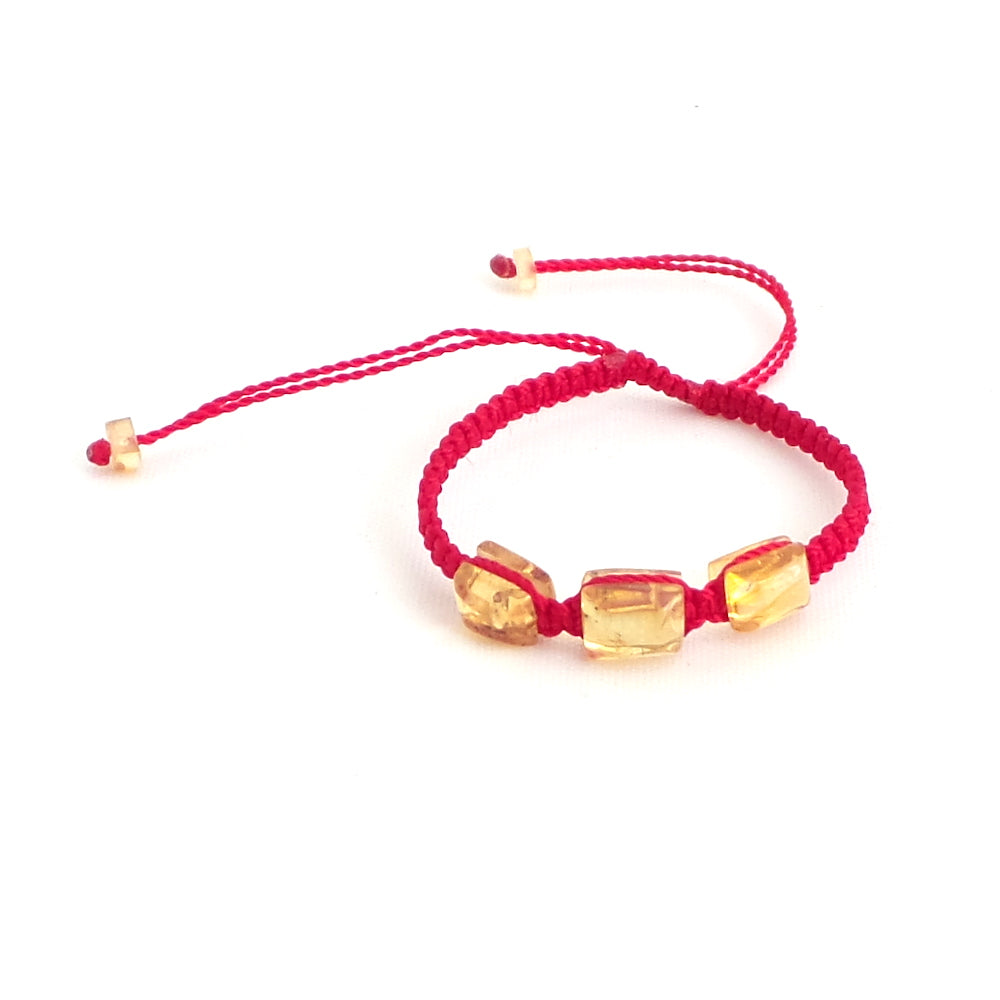 Kids Amber Red Artisanal Adjustable Bracelet - Estilo Concept Store