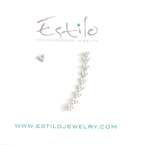 Asymmetric Climber Earrings - Estilo Concept Store