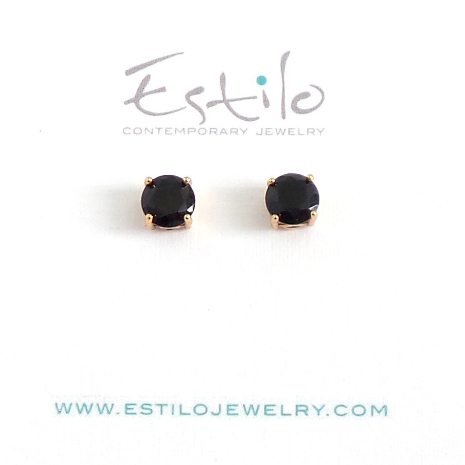 Black Gold Stud Earrings - Estilo Concept Store