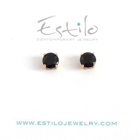 Black Gold Stud Earrings