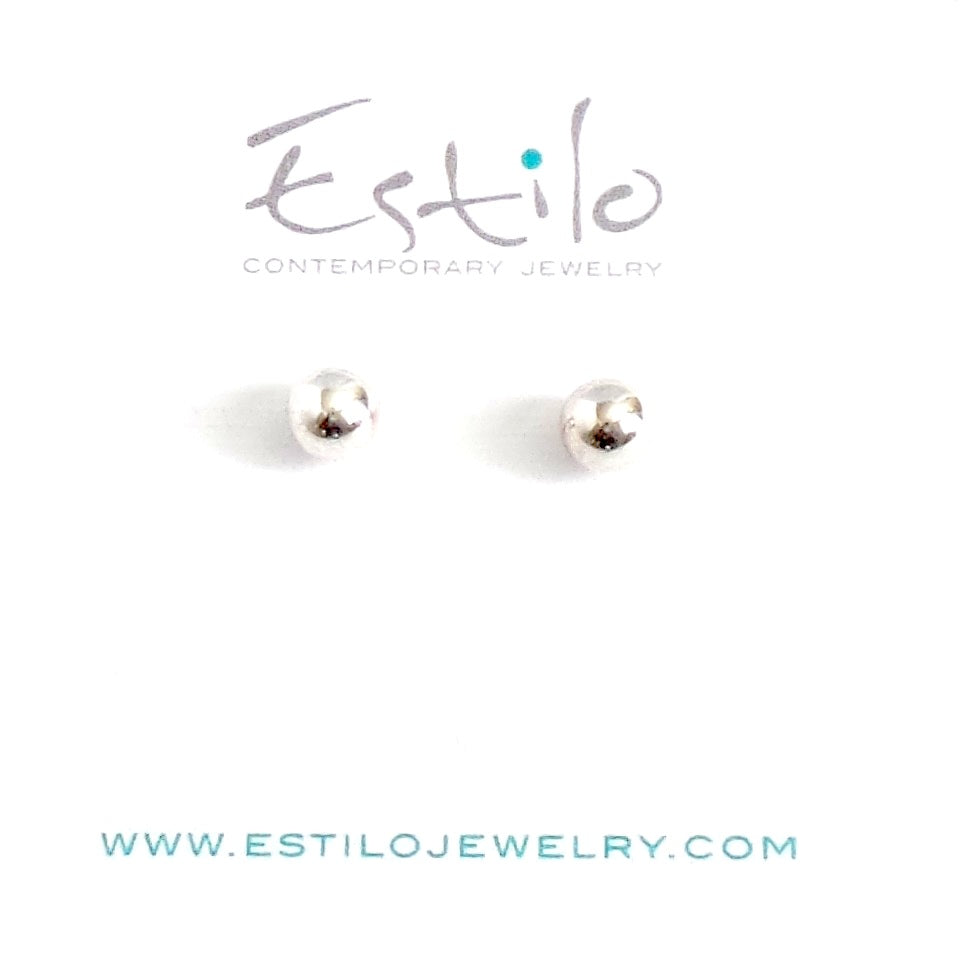 Sphere Silver Stud Earrings *click for different sizes - Estilo Concept Store