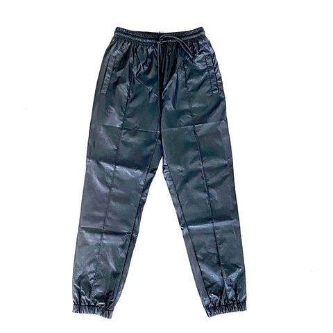 Black Faux Leather Joggers - Estilo Concept Store