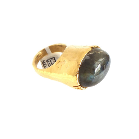Polished Stone Ring by Elisheva & Constance