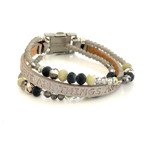 Good Works Humanity Bracelet Galaxy Charcoal
