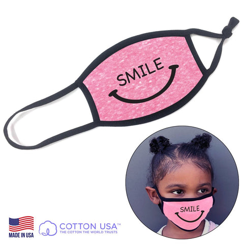 Smile Pink Kids Face Mask