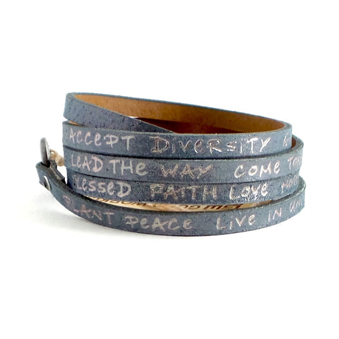 Galaxy Wrap Around Leather Bracelet *click for more colors