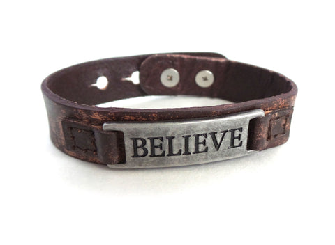 Believe Men's Sacred Single Vintage Bracelet