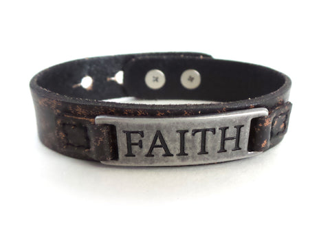 Faith Men's Sacred Single Vintage Bracelet