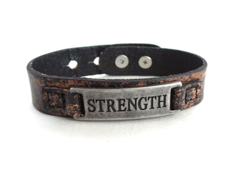 Strength Men's Sacred Single Vintage Bracelet
