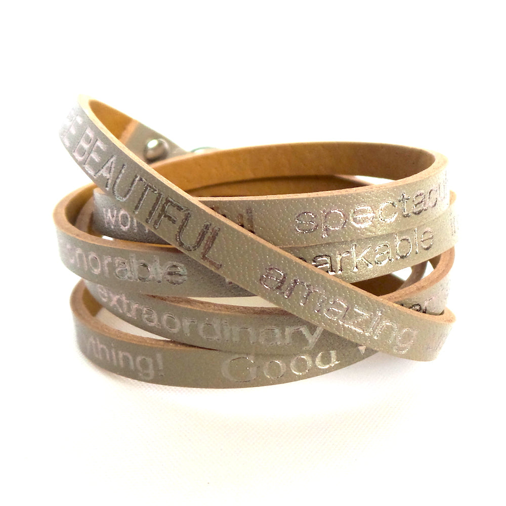 You are Beautiful Wrap Around Leather Bracelet *click for more colors - Estilo Concept Store