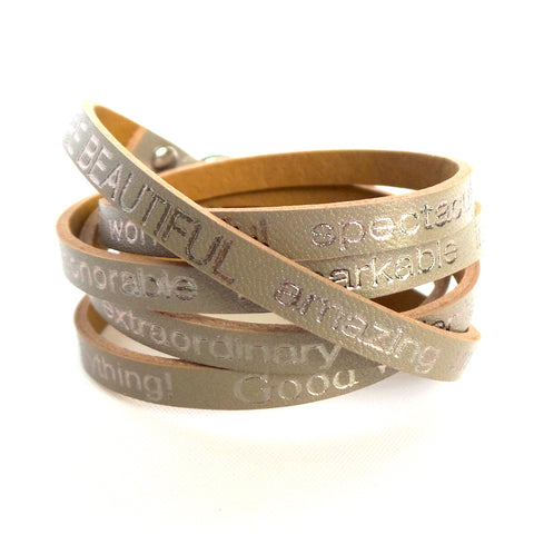 You are Beautiful Wrap Around Leather Bracelet *click for more colors