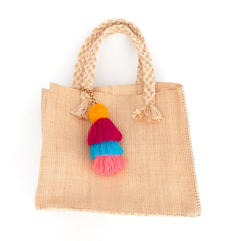 Handwoven Colorful Tassel Handbag