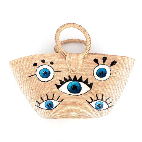 Handwoven Evil Eye Handbag