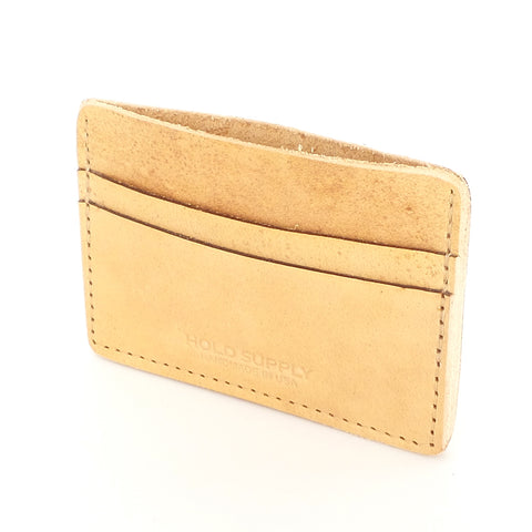 Tan Leather Card Wallet - Estilo Concept Store