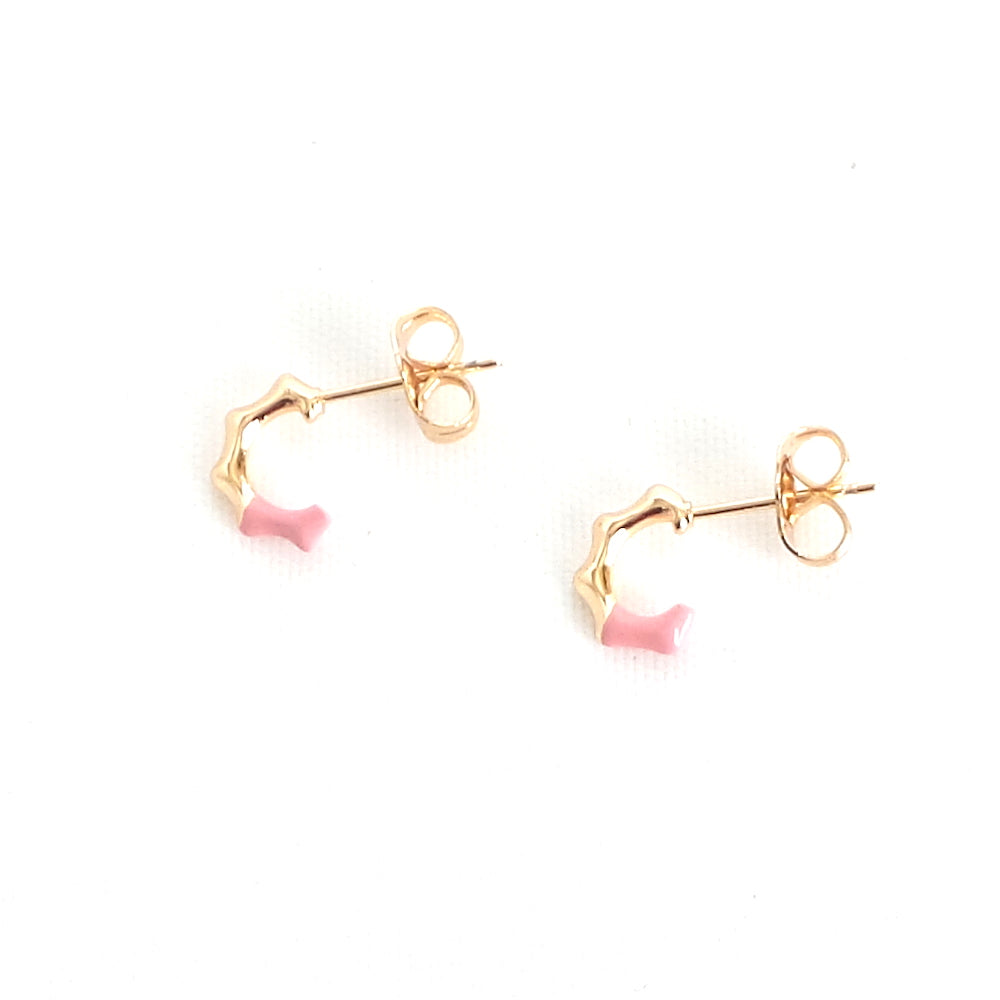 Pink Mini Hoop Earrings - Estilo Concept Store