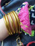 All Weather Gold Bangles Serenity Prayer by Budha Girl