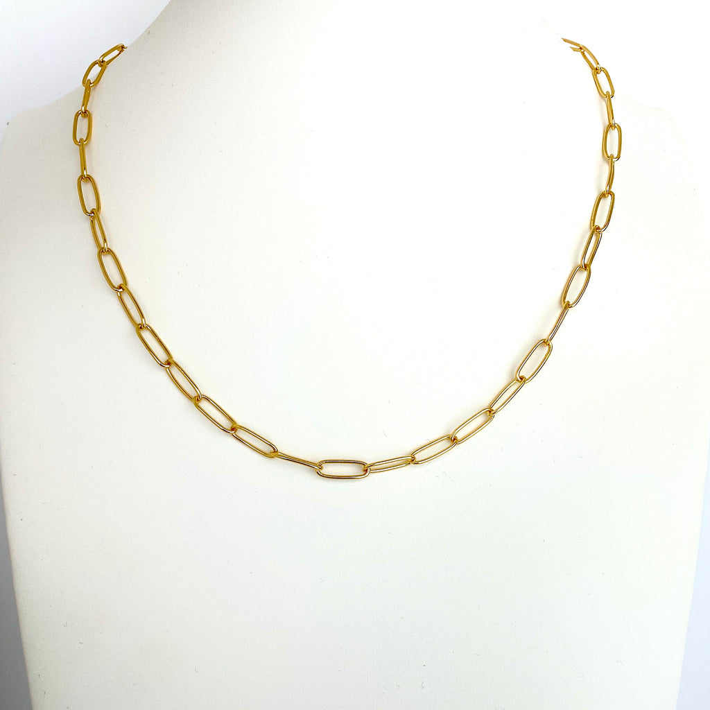Paper Clip Link Chain Necklace