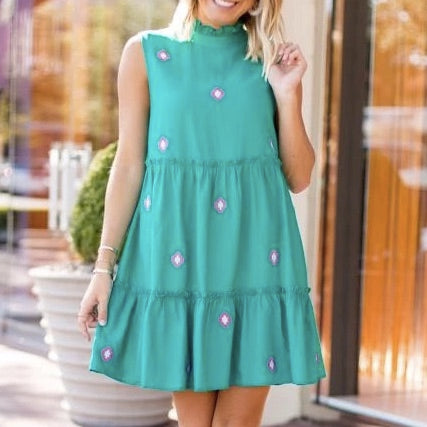 The Evelyn Teal Dress