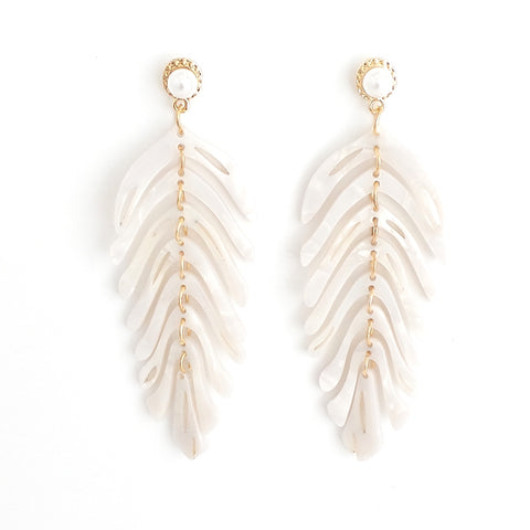 Morelia White Acrylic Statement Earrings - Estilo Concept Store