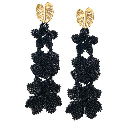 Black Garden Earrings