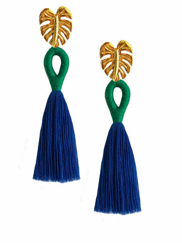 Green Ballerina Earrings