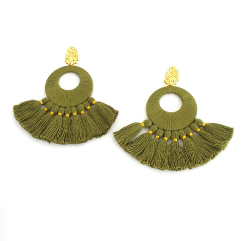 Olive Florentine Earrings - Estilo Concept Store
