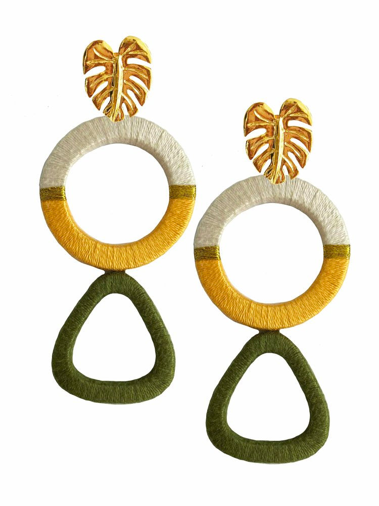 Olive Geometric Earrings - Estilo Concept Store