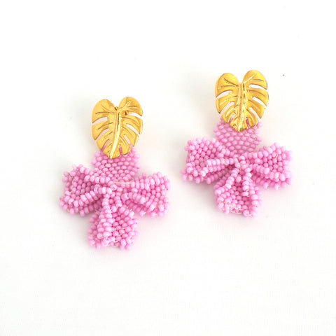 Pink Single Graden Earrings