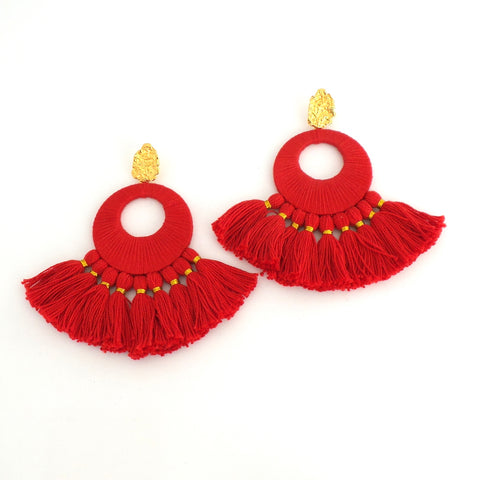 Red Florentine Earrings